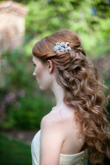 bridal half up half down hairstyle dreampurple uk